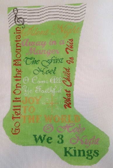 C25-Carols Green Stocking