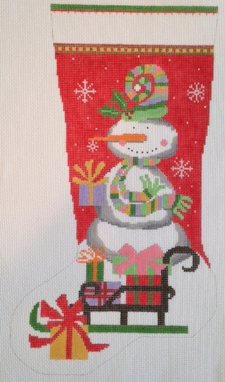 C26-Snowman Red Stocking
