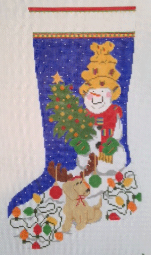 C9-Snowman Stocking Blue