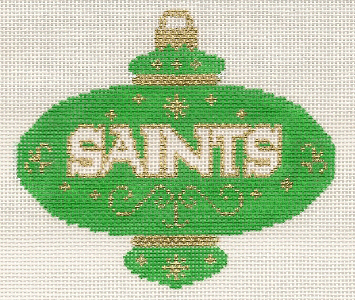 L41-Saints Green Ornament