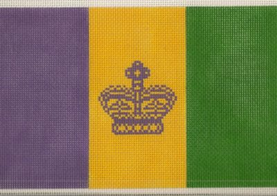 M12 - Large Mardi Gras Flag
