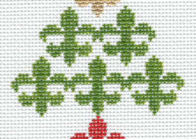 SD7a-7 Fleur de Lis/Christmas colors